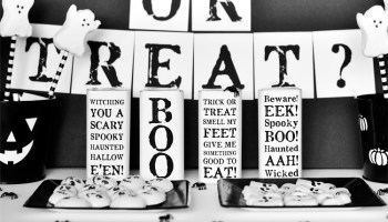 black and white halloween party printables - Black And White Halloween Party