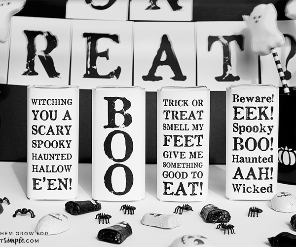 free printable halloween juice box covers black and white halloween party ideas - Black And White Halloween Party