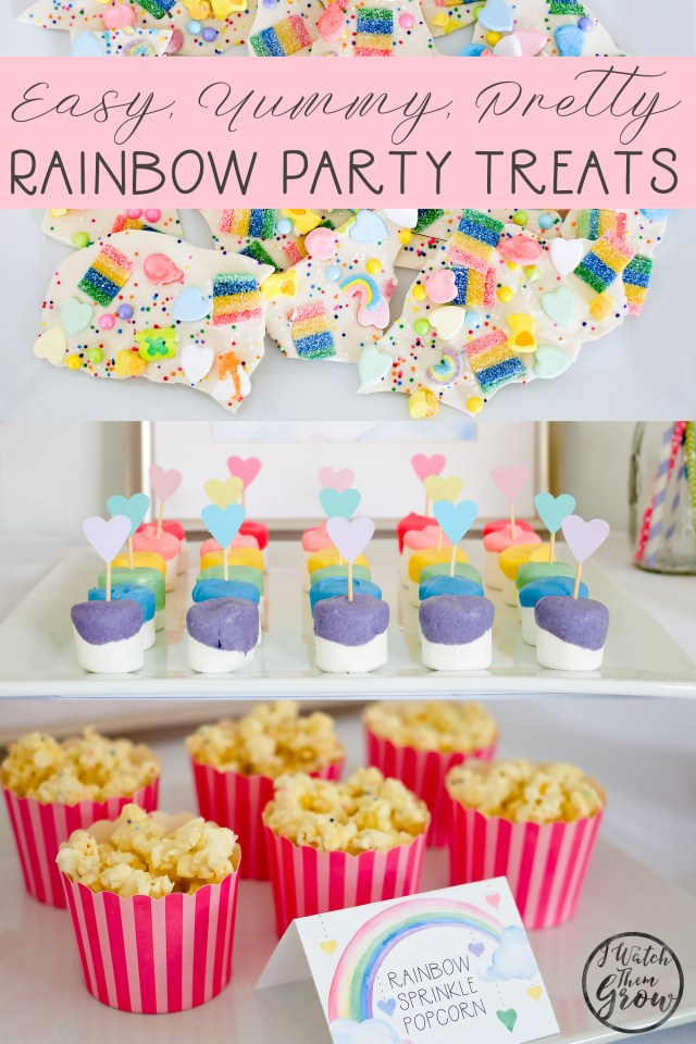 3 EASY no-bake rainbow party treats recipes you have to try!
