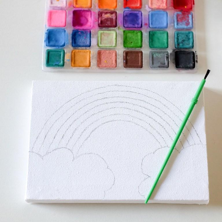 Rainbow party activities - painting rainbows