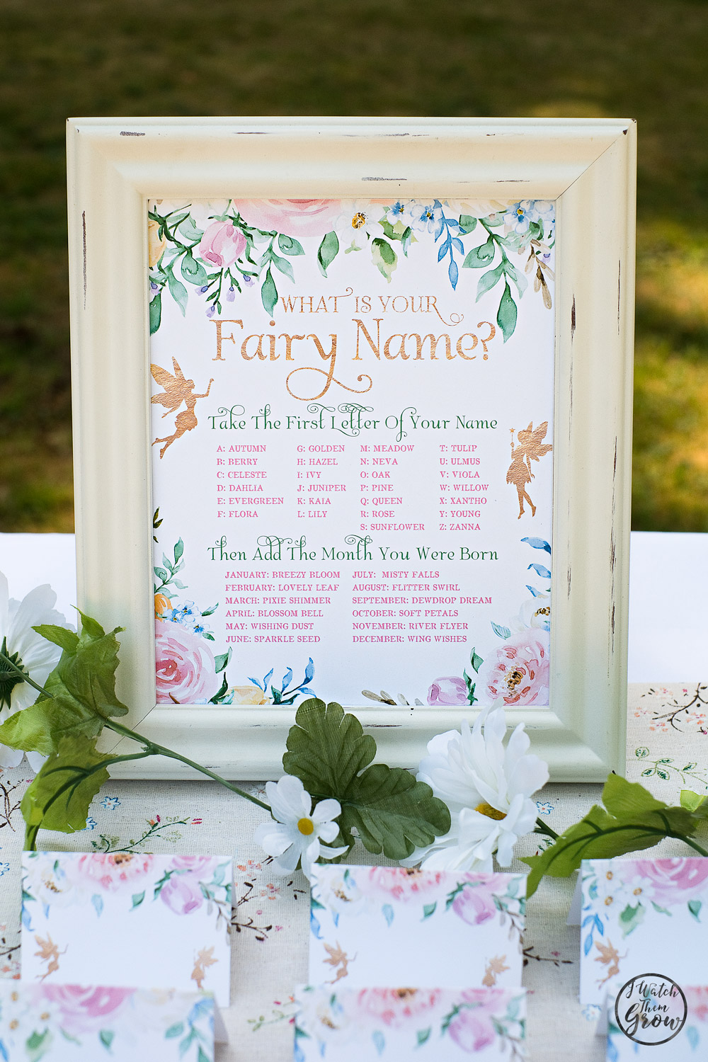 image relating to Free Printable Tea Party Games titled Fairy Celebration Game titles and Game Options - I Keep an eye on Them Increase