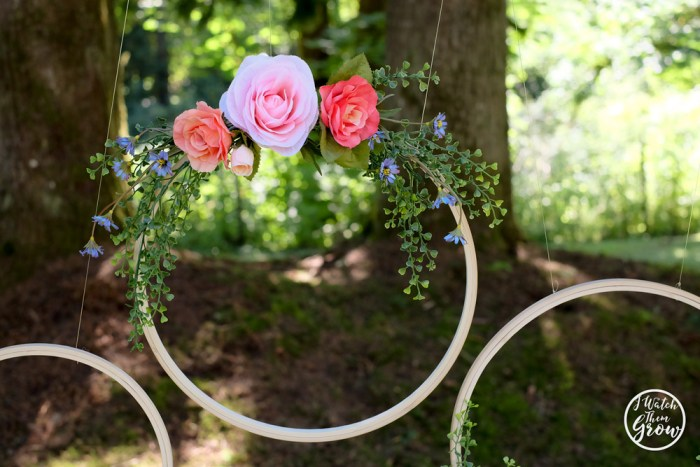 DIY floral hoops for party decorations
