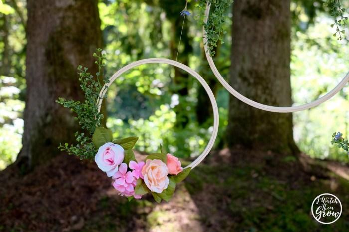 Fairy tea party ideas - floral hoops!