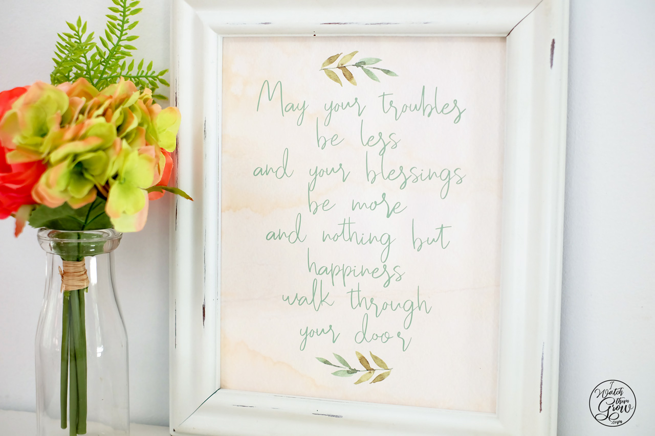 picture about Printable Irish Blessing known as Totally free Printable Irish Blessing Artwork - I Look at Them Develop
