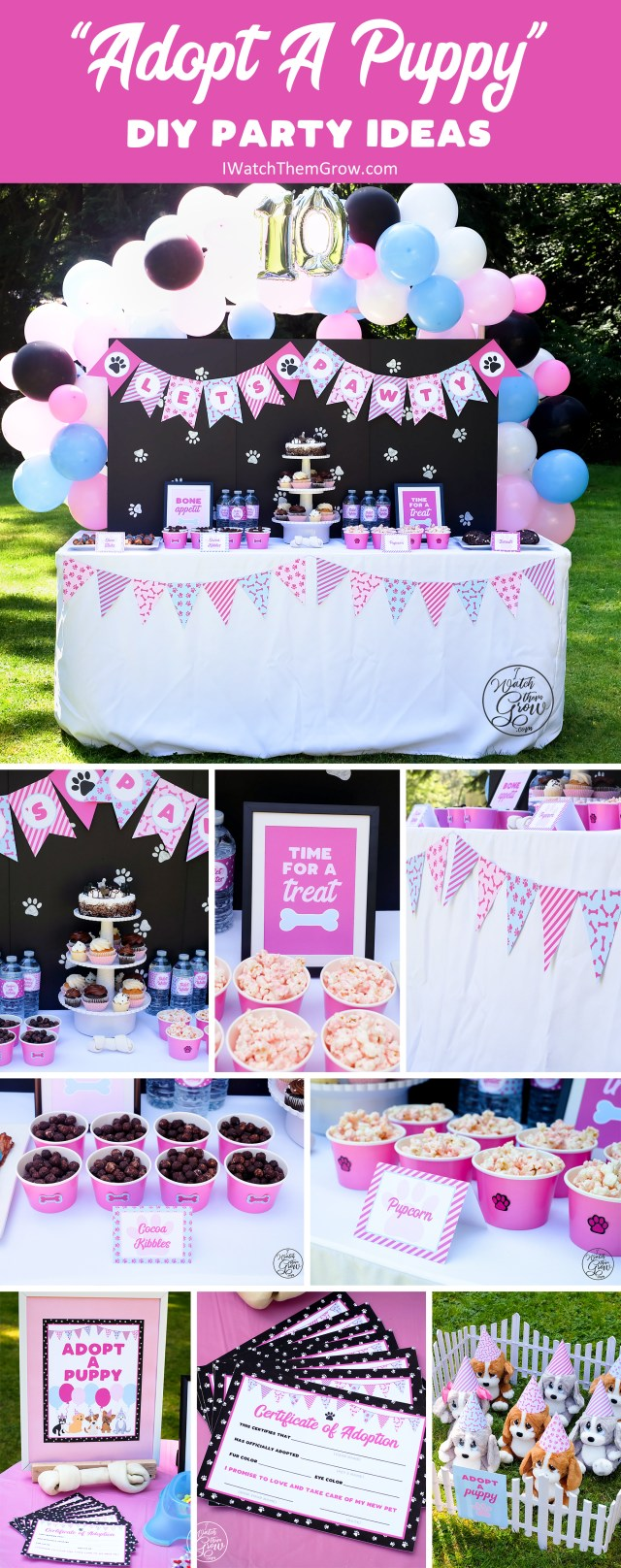 Lots of DIY budget friendly puppy party ideas!