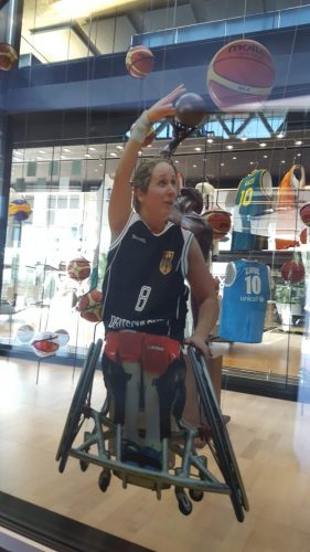 German Annika Zeyen features in the House of Basketball