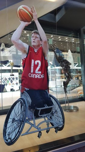 Lifesize version of Canada Patrick Anderson at the House of Basketball