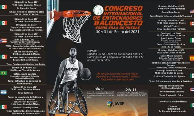 Mexico to host Virtual International Congress of Wheelchair Basketball Coaches