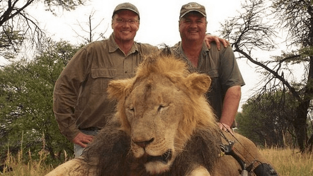 Walter Palmer with Cecil