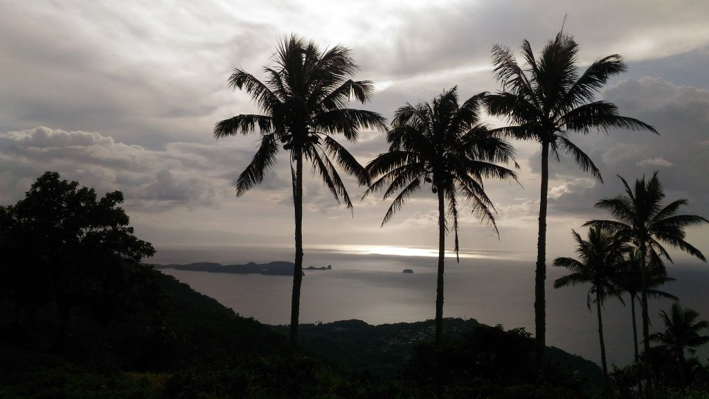 Sombrero Island as seen from Mt. Gulugod-Baboy