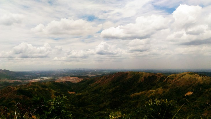 View from the trail of Mt. Balagbag