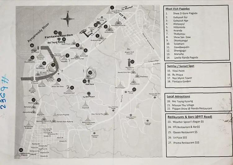 Map of Bagan