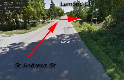 Approach to Lamont off Andrew st