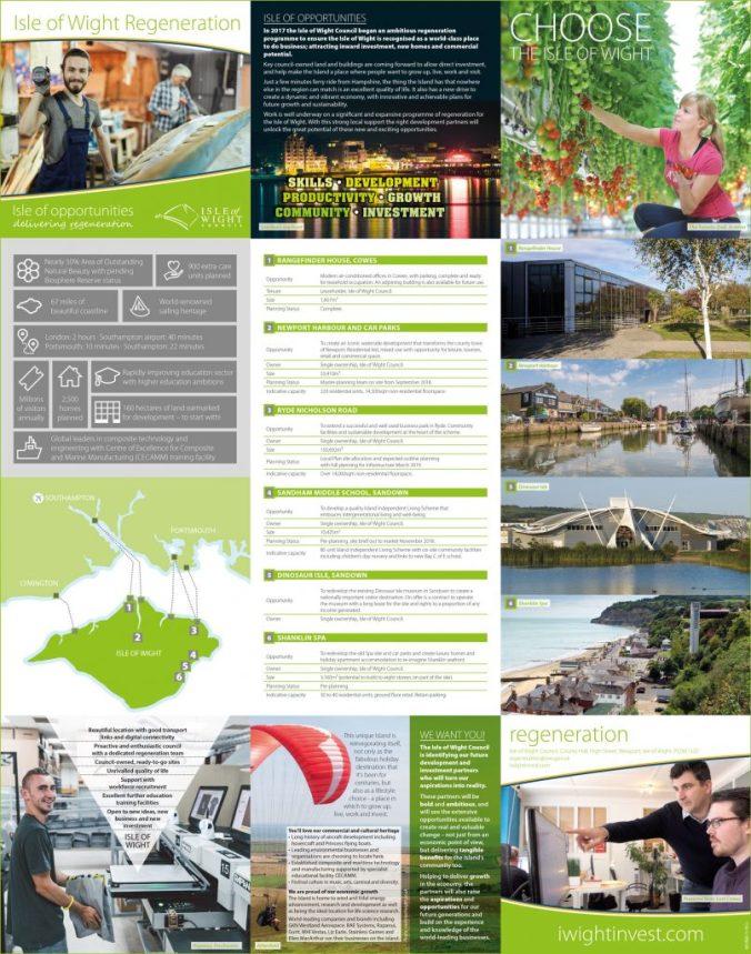 2018 Isle of Wight Regeneration Brochure