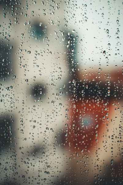 Just raindrops? Or a metaphor for wiping distortions away and viewing things with calm clarity?
