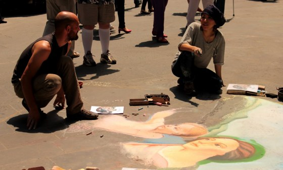 Street artists expressing themselves