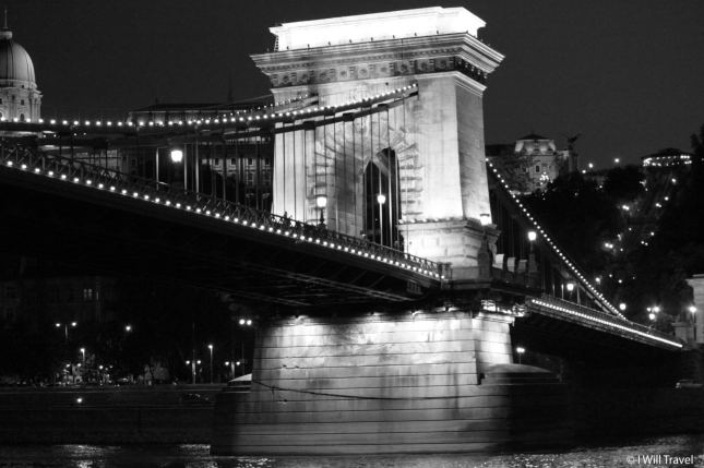 The chain bridge above the Dunabe in Budapest