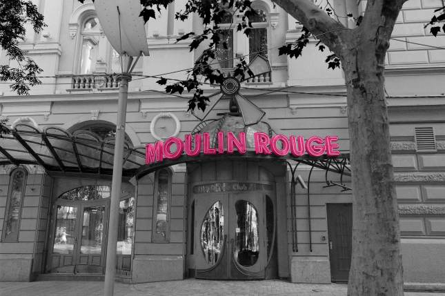 The Moulin Rouge bar and restaurant in Budapest
