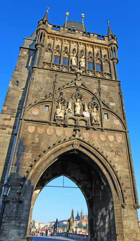 The eastern façade of the Old Town Bridge Tower