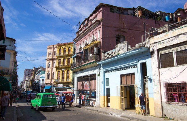 A typical street in Havana, Cuba.