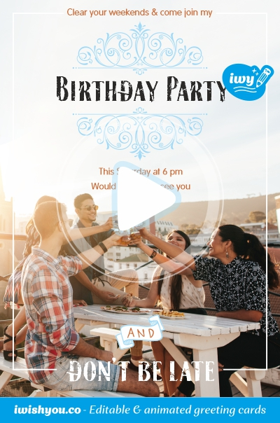 images birthday invitation forever young editable online template free