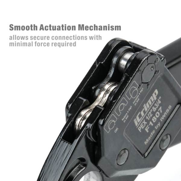 IWS-1234C smooth actuation mechanism