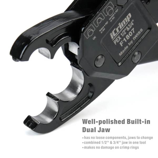 IWS-1234C mandíbula doble bien pulida incorporada