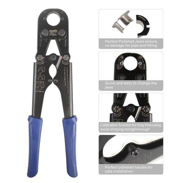 Kit de herramientas de prensado de tuberías PEX