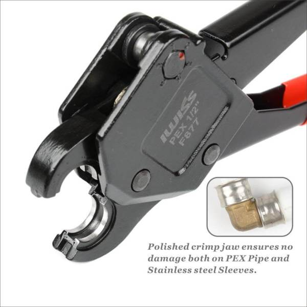 Jaw Detail of Angled Head PEX Crimping Tool IWS-0611 1-2 inch