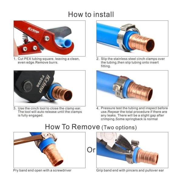 pex cinch tool F2098 installation