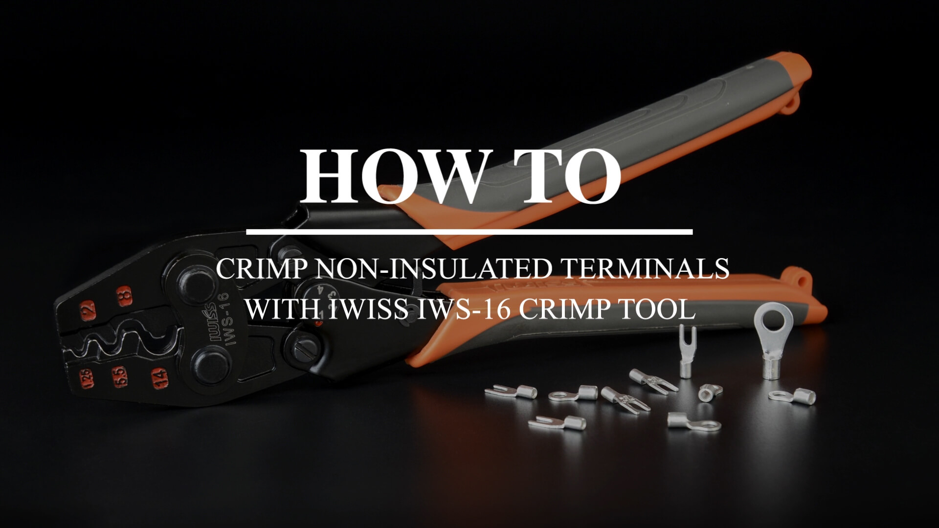 IWISS IWS-16 Pince /à sertir /à cliquet pour bornes non isol/ées de 0,3 /à 13,3 mm2 avec c/âbles m/âchoires polis appareils /électriques et autres m/écanismes dalimentation