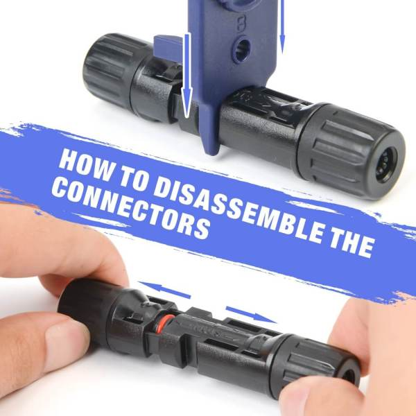 how to disablemble MC4 connectors
