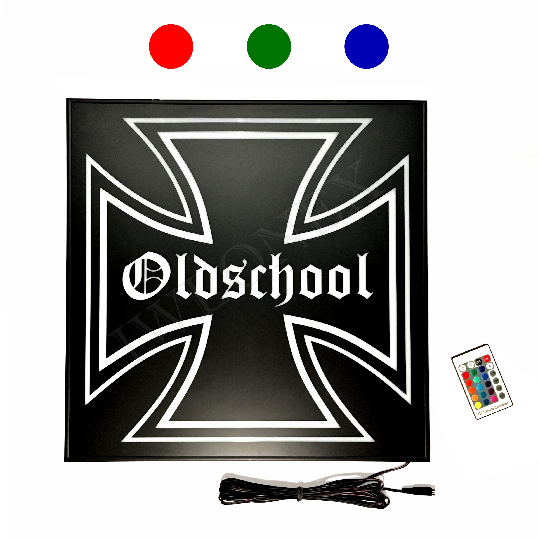1 X Lkw Led Rgb Ruckwandschild Eiserne Kreuz 24v Iwlonex