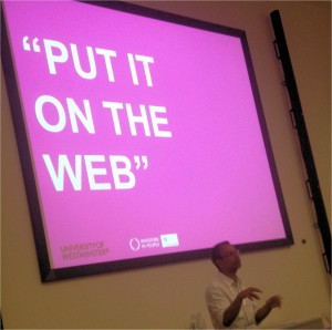 """Put it on the web"""