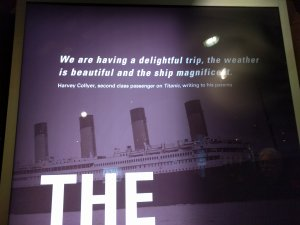 Titanic exhibition 'having a beautiful trip'