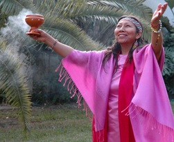 Blessed Photo of Peace Mother Welcoming Her Spirit Guides