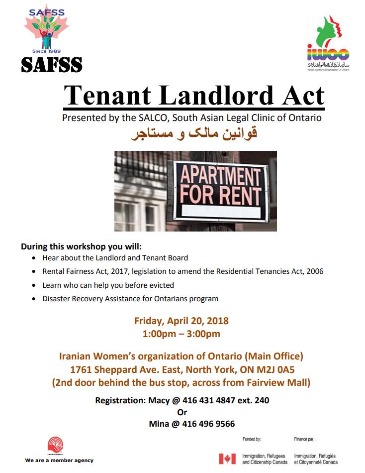 Tenant Landlord Act Workshop