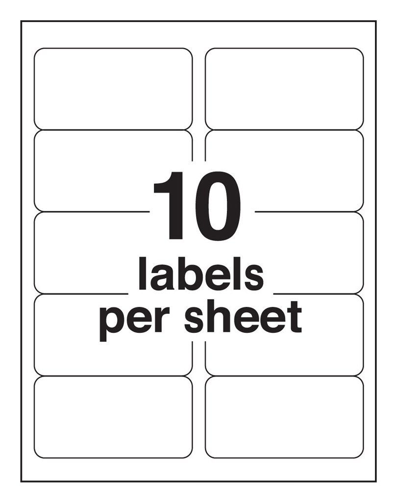 10 Up Blank Shipping Labels Avery 8163 Template