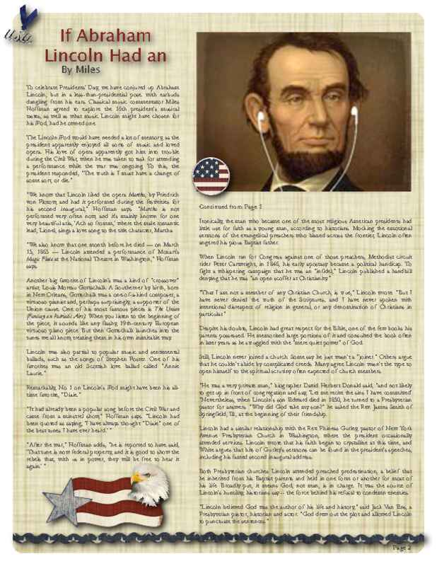 2-Page Historical Newsletter Back