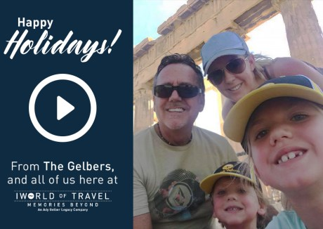 Happy Holiday from IWorld of Travel CEO Michael Gelber and family.