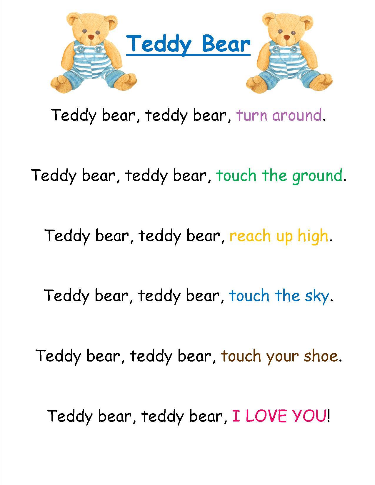 5 Little Bears Poem Preschool Activities T Poem Bears