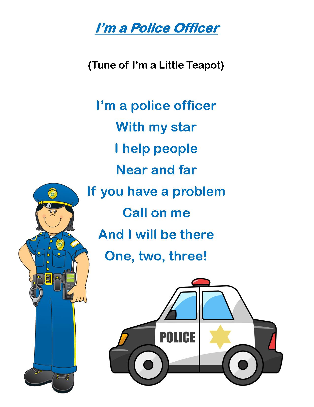 Storytime Theme My Friends The Police Everyday I Write