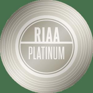 RIAA Platinum Certification — 1,000,000 units