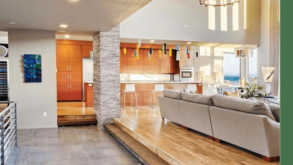 Living Room - Gray Oak Stacked Stone
