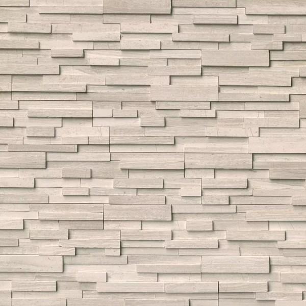 White Oak 3D Stacked Stone