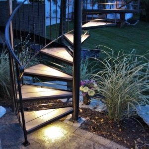 Spiral Stairs For Deck And Patio Great Lakes Metal Fabrication | Outdoor Spiral Staircase For Deck | 36 Inch Diameter | Small Footprint | Steel | Balcony Outdoor | 2 Story