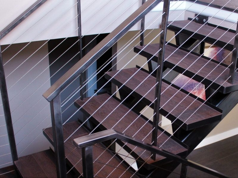 Industrial Style Metal Stairs Great Lakes Metal Fabrication | Industrial Stair Railing Design | Industrial Style | All Metal Interior | Contemporary Metal | Small Stair | Detail Industrial