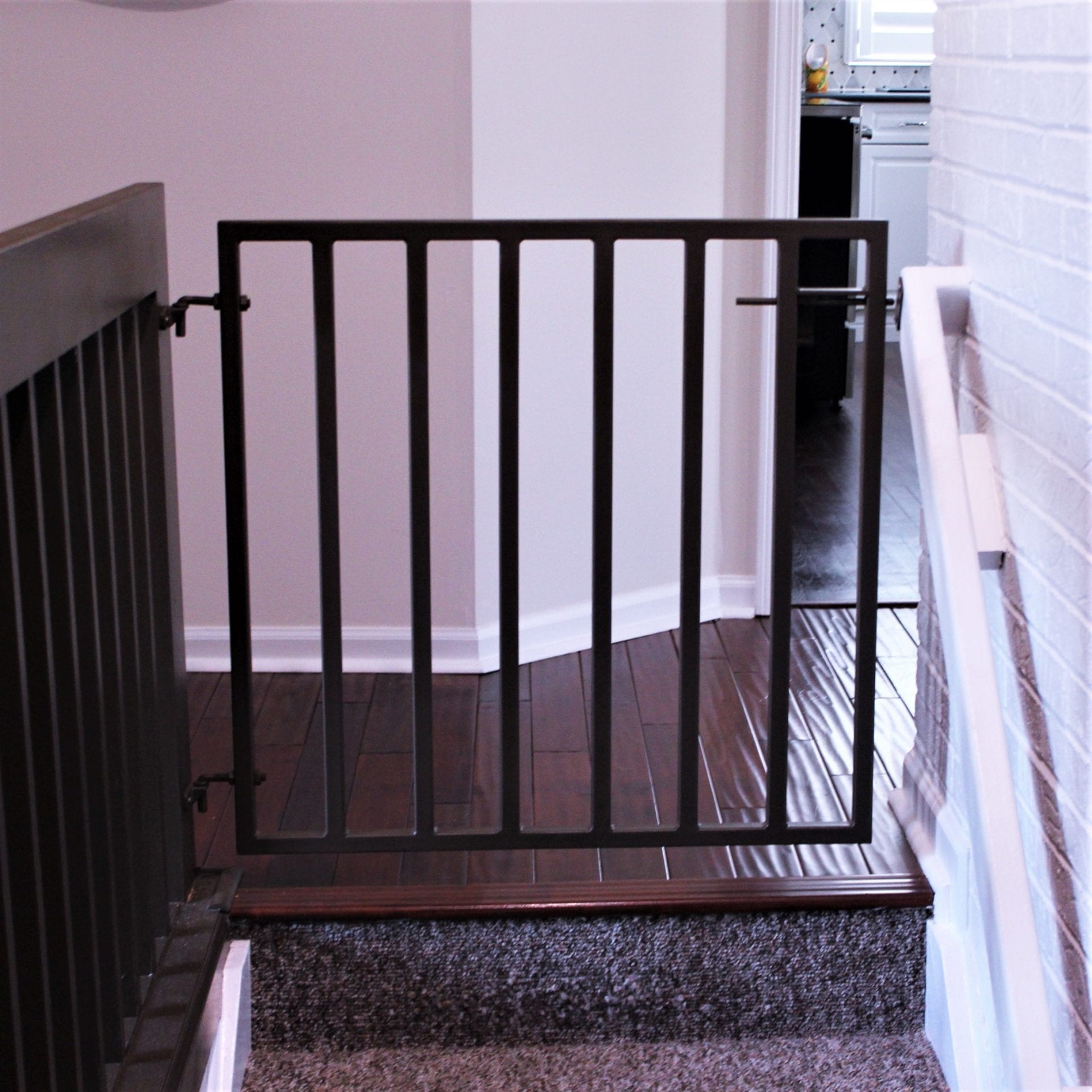 Metal Safety Gate For Stairs Great Lakes Metal Fabrication | Steel Gates And Stairs | Dreamstime | Handrail | Stainless Steel | Fence Gate | Egress