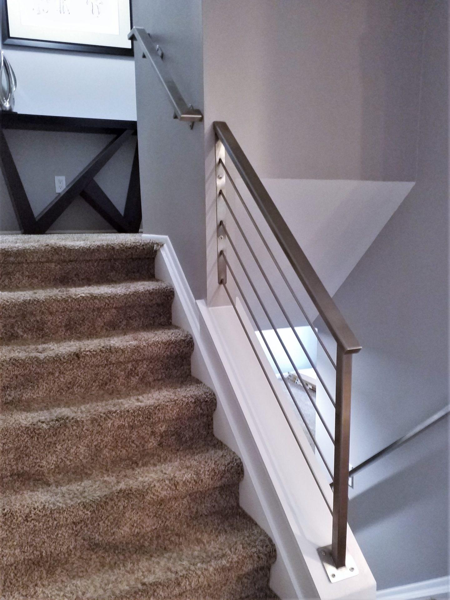 Stainless Steel Handrail Stair Railing Great Lakes Metal Fabrication | Steel Handrails For Steps | Baluster | Aluminum | Steel Tube | Price | Designing