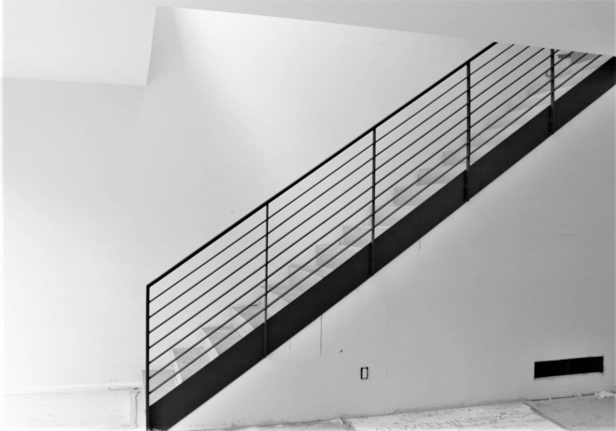 Luxury Horizontal Metal Railing For Stairs Great Lakes Metal | Black Metal Railing For Stairs | Traditional | Low Cost | Cast Iron | Horizontal | Black Wire